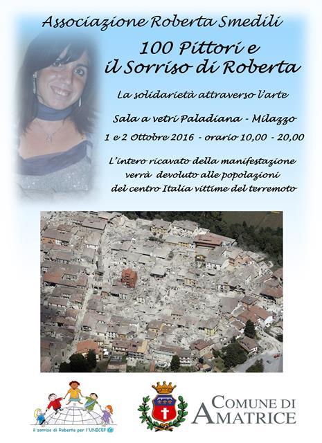 Il sorriso di Roberta Smedili per i terremotati del centro Italia.