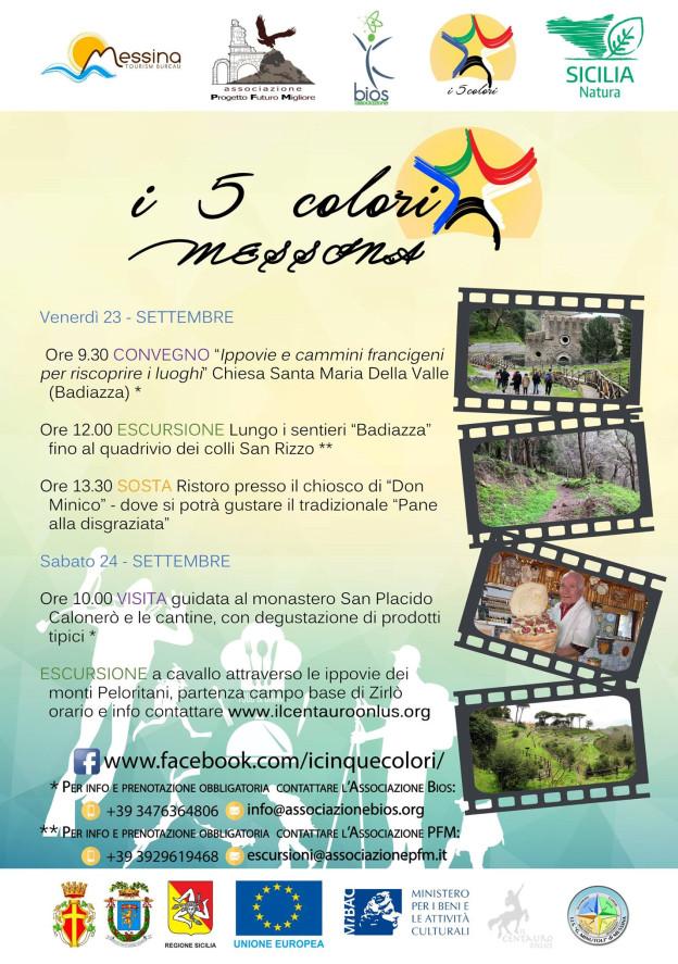 """Progetto """"I Cinque Colori"""": il 23 e 24 settembre in programma escursioni, visite e degustazioni gratuite"""