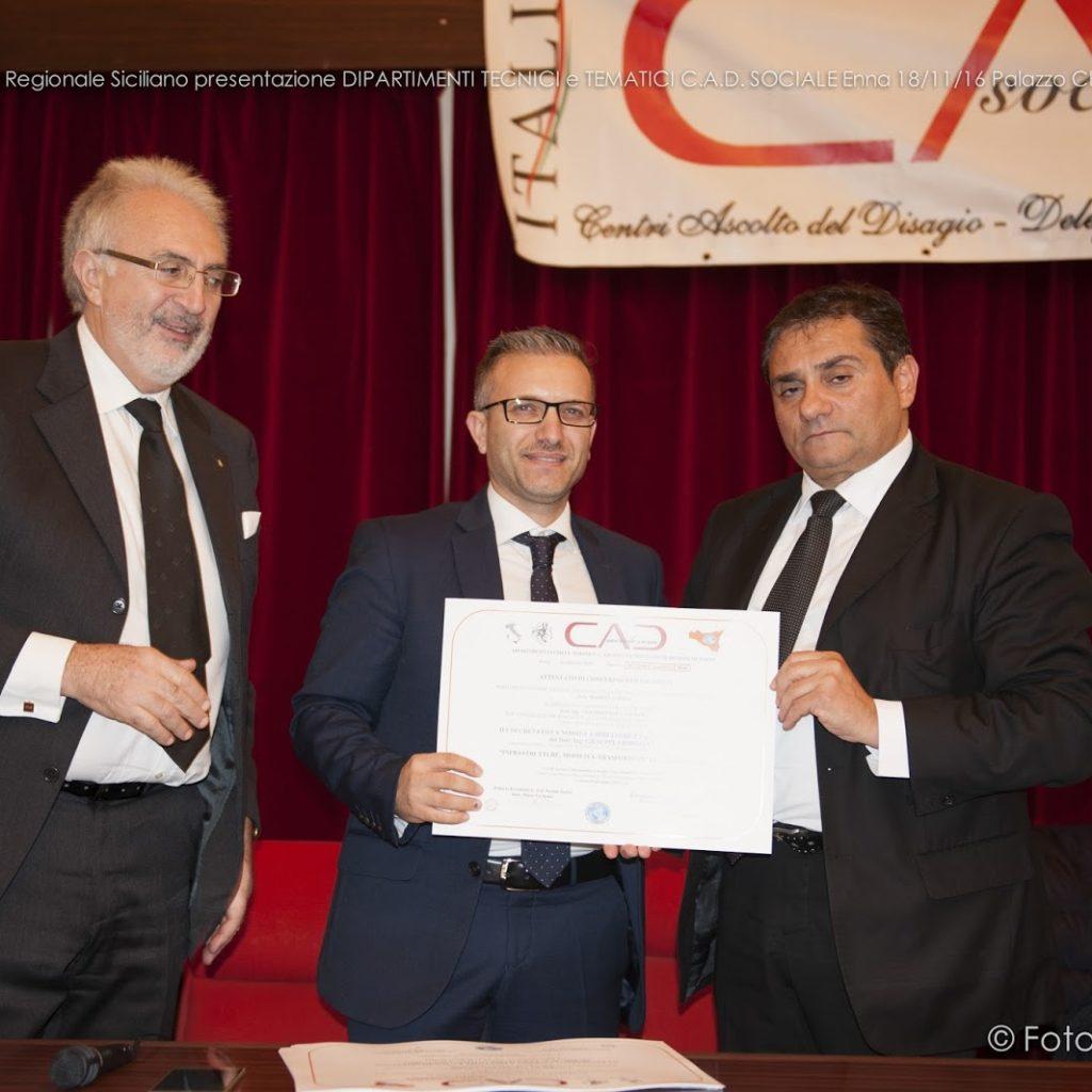 Il milazzese Giuseppe Giorgianni a capo del DIPARTIMENTO Regionale del CAD (Centro di Ascolto del Disagio Sociale)