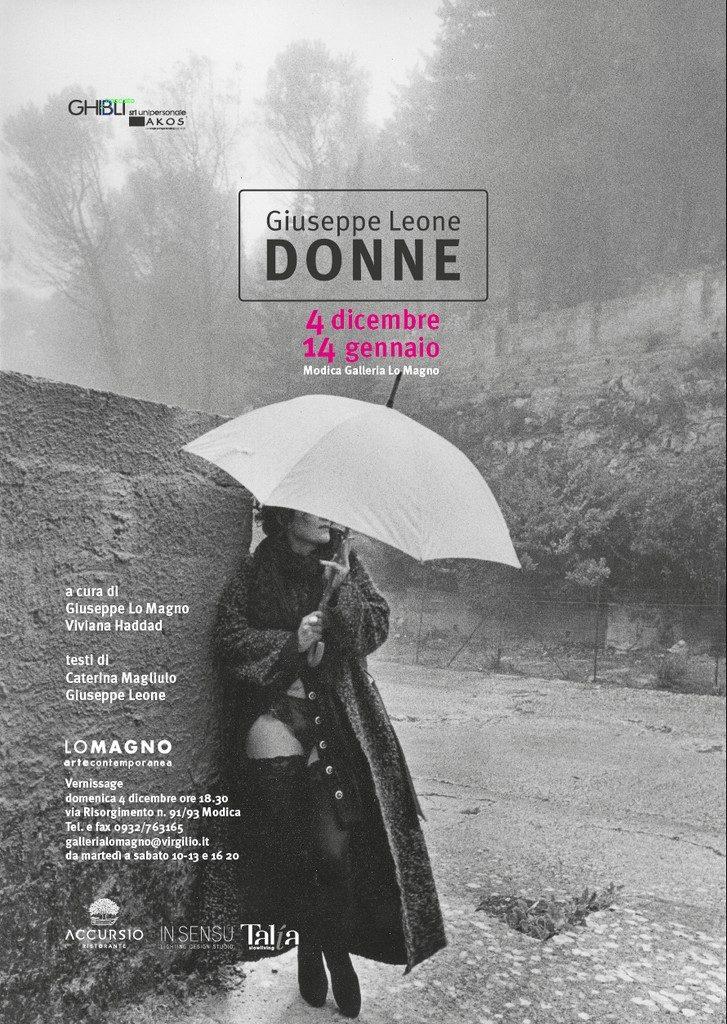"""""""Donne"""", si inaugura il 4 dicembre la mostra di Giuseppe Leone alla Galleria Lo Magno di Modica"""