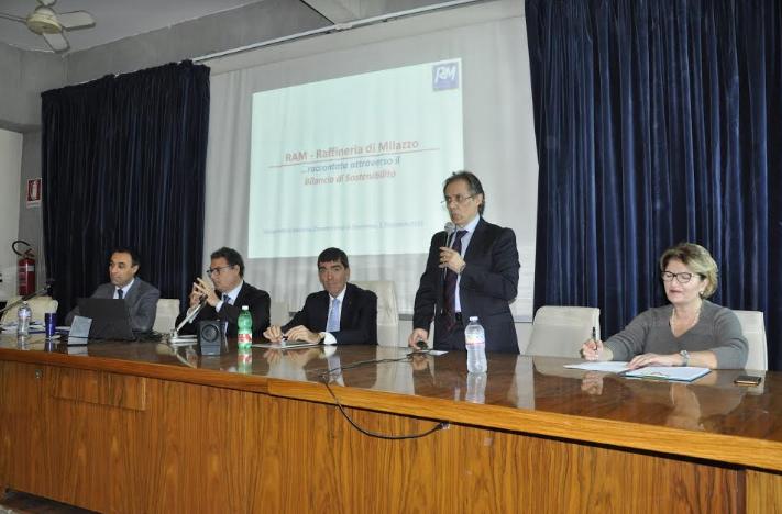 La Raffineria di Milazzo presenta il Bilancio di sostenibilità 2015 all'Università di Messina