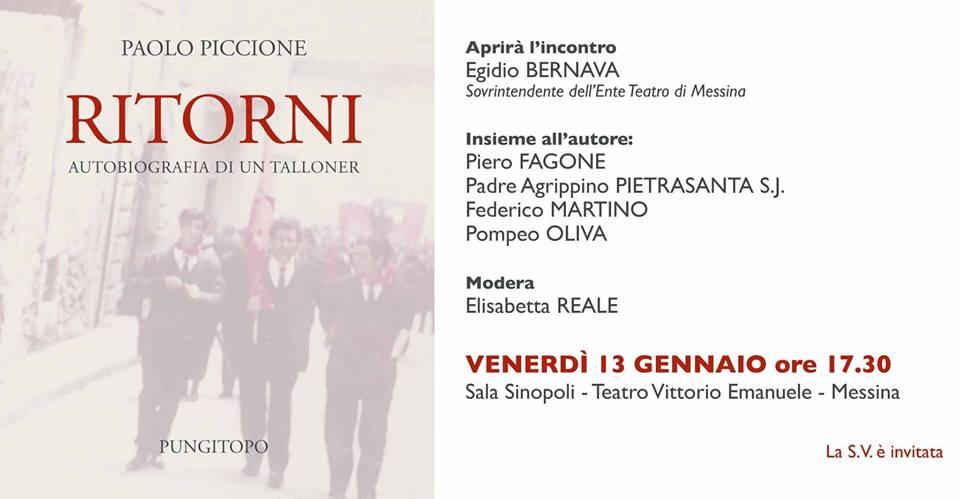 Presentazione autobiografia on. Paolo Piccione