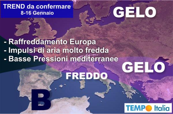 In Sicilia arriva il freddo polare, temperature vicine allo zero