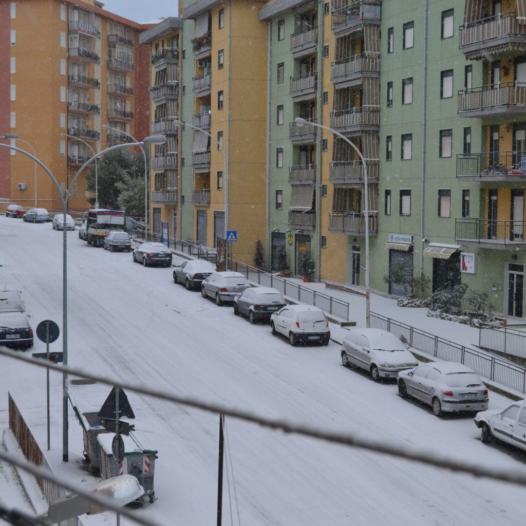 Neve nel messinese, paesi imbiancati