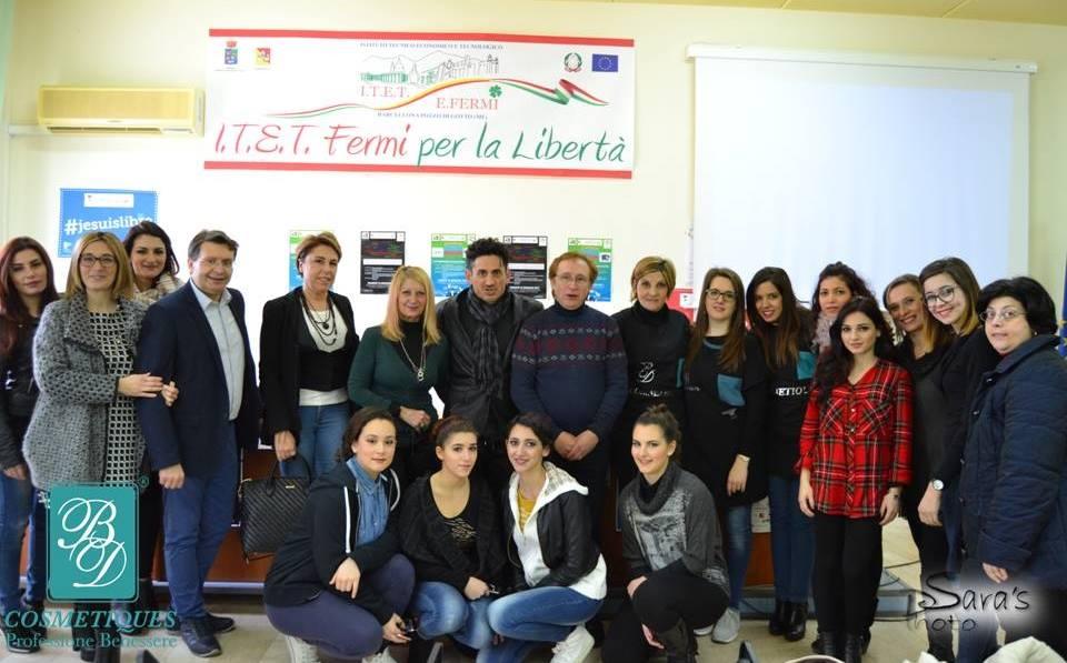 """Orientamento dell'Accademia """"BdCosmetiques"""" all'istituto """"Fermi"""" di Barcellona"""