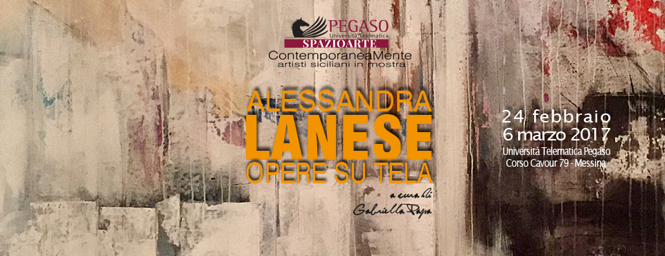 Mostra della pittrice Alessandra Lanese all'Università Pegaso di Messina.