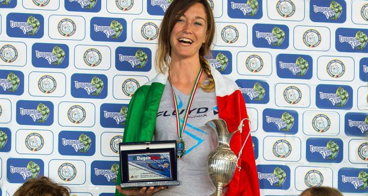 Milazzo, Zecchini batte il nuovo record di Apnea lineare con attrezzi (Dyn) bipinne