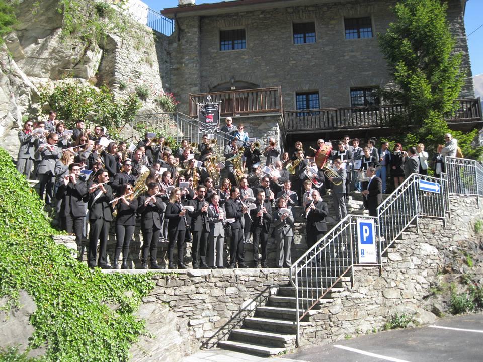 Successo della banda musicale di Milazzo in Valle d'Aosta