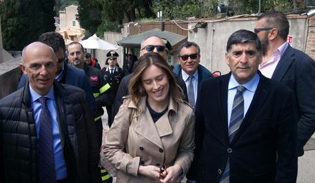 Il sottosegretario Maria Elena Boschi a Taormina nei cantieri del G7