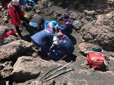 Etna: turista in 'bocca' spenta, salvata