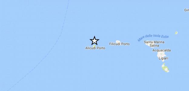 Terremoto alle Eolie  Scossa di magnitudo 3.3