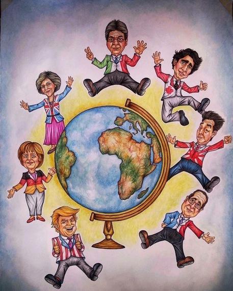 G7: i Grandi' di 'cartapesta' a Acireale