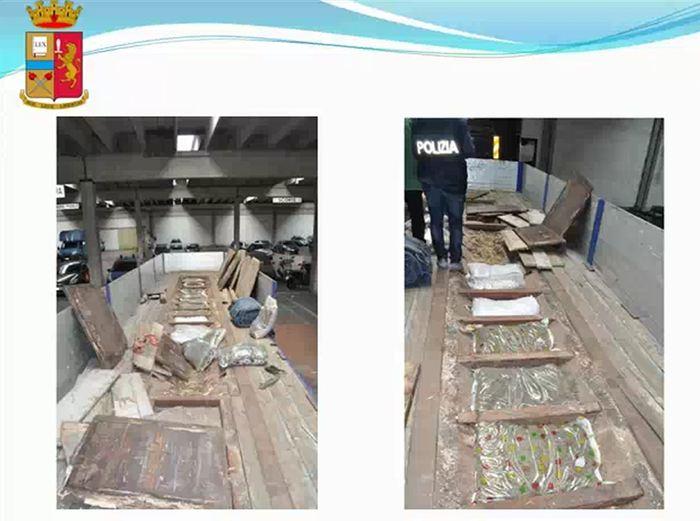 162 kg marijuana in un Tir, 4 arresti
