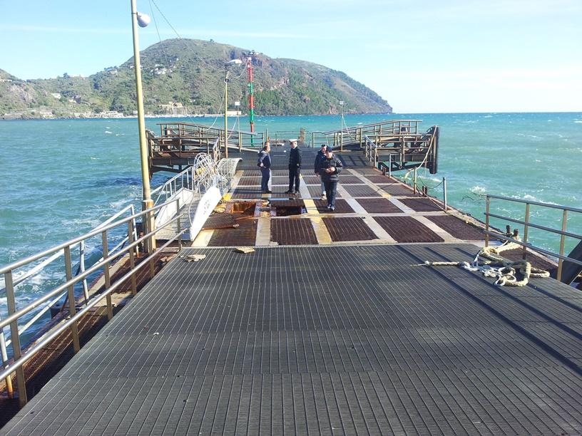 Lunedì a Lipari cominciano i lavori di copertura del pontile aliscafi