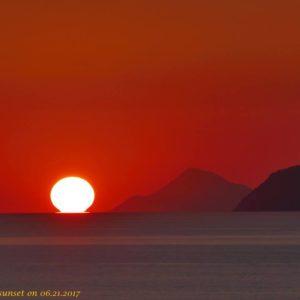 Sicily – sunset on 06.21.2017 di Carmelo Fulco