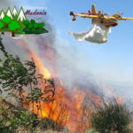 Incendio ad Alimena. Intervengono Canadair e volontari antincendio