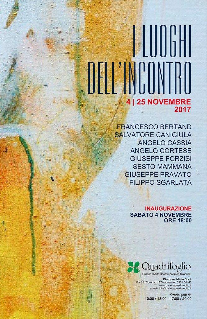 """""""I luoghi dell'incontro"""", dal 4 al 25 novembre collettiva d'arte alla Galleria Quadrifoglio"""