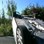Agrigento, si ribalta auto, 5 feriti