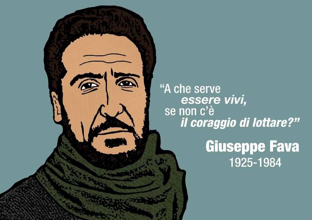 Oggi il 34^ anniversario dell'omicidio del giornalista e scrittore Giuseppe Fava