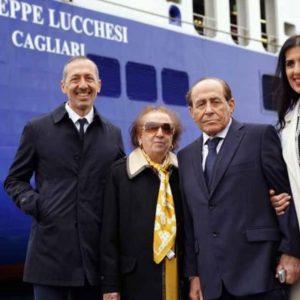 """Presentazione nave """"Giuseppe Lucchesi"""" Tirrenia Armatore Onorato presso Porto Di Catania: Molo Di Levante."""