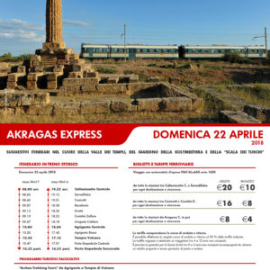 "Treno storico e Archeotrekking: da Caltanissetta e Canicattì domenica 22 aprile partirà ""Akragas Express"""