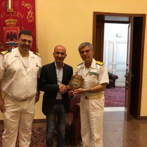 Visita del contrammiraglio Martinez al Comune di Milazzo