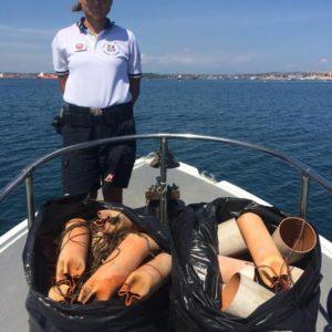 Sequestrato attrezzo pesca polpi