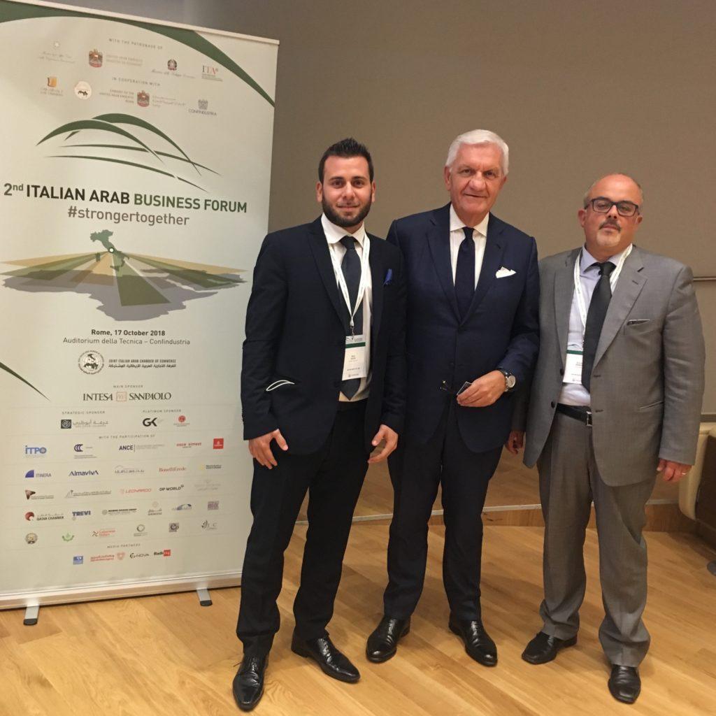 I milazzesi Zizzo e Mangano a Roma al 2° Italian Arab Business Forum dedicato al mondo arabo paesi Medio Oriente e Nord Africa