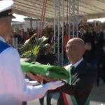 """Cerimonia di consegna della bandiera di combattimento alla nave """"Luigi Rizzo"""""""