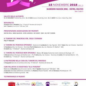 A Giardini Naxos il 15 novembre si celebra la Giornata mondiale per la lotta al Tumore del Pancreas