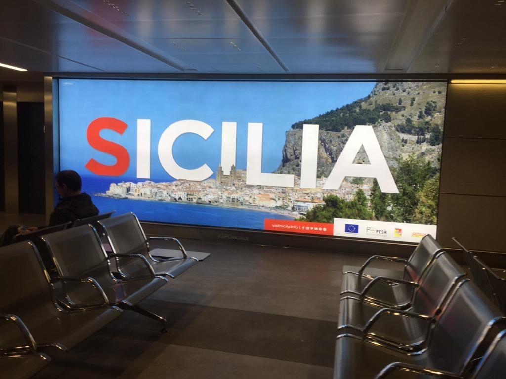 La promozione della Sicilia  negli aeroporti italiani
