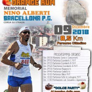 """Barcellona P.G.: via al Trofeo """"Orange Run"""", il memorial dedicato a Nino Alberti"""