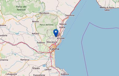 Terremoto di magnitudo 4.1 in provincia di Catania