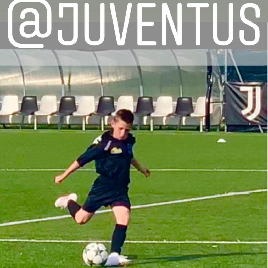 Il calciatore milazzese Christian Calderone al Juventus Center di Vinovo per uno stage