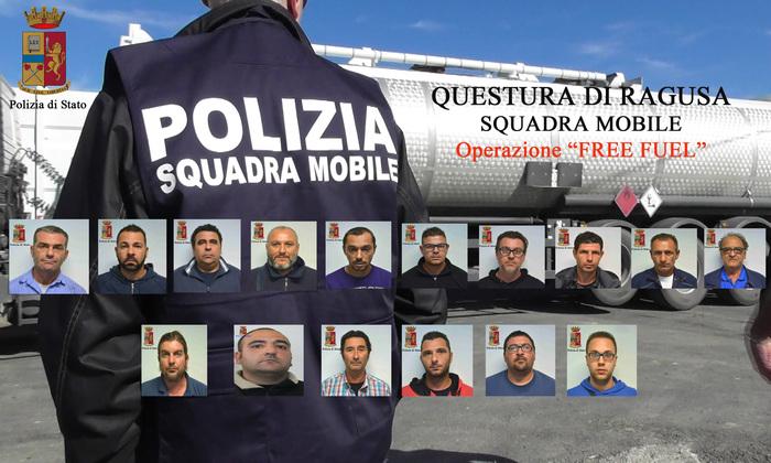 Vendita carburanti rubati, 16 arresti a Ragusa