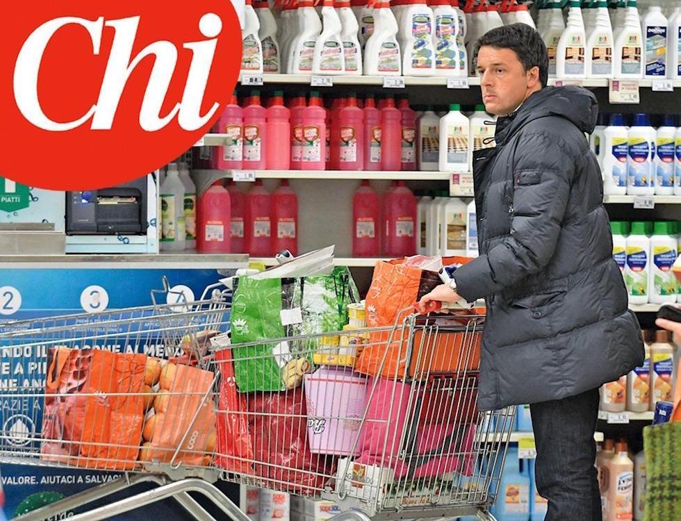 Renzi da palazzo Chigi al…Supermercato