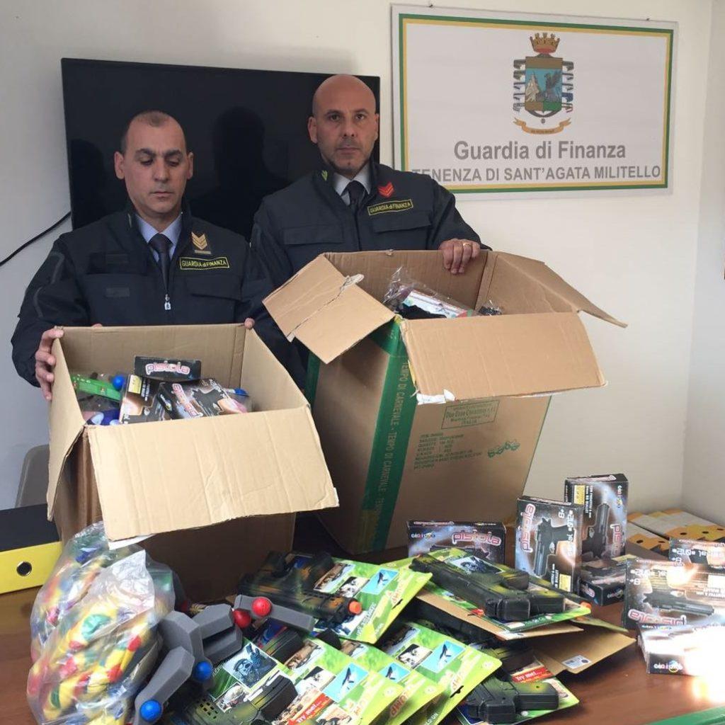 S. Stefano di Camastra (Me): sequestrati diecimila articoli privi dei requisiti di conformità e sicurezza. Denunciato un responsabile