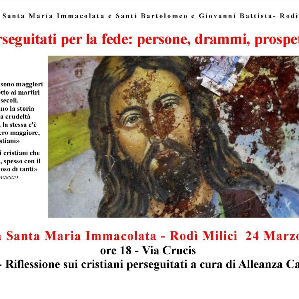 Rodì Milici, il 24 seminario sul dramma delle persecuzioni cristiane