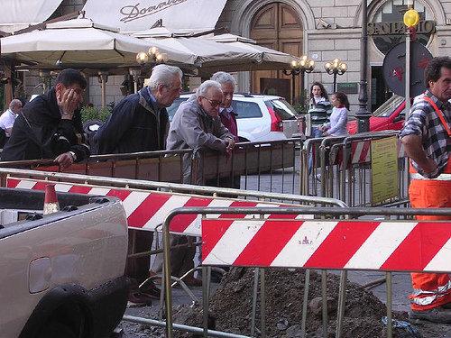 Taormina/ Ispezione antimafia della Dia in un cantiere del G7