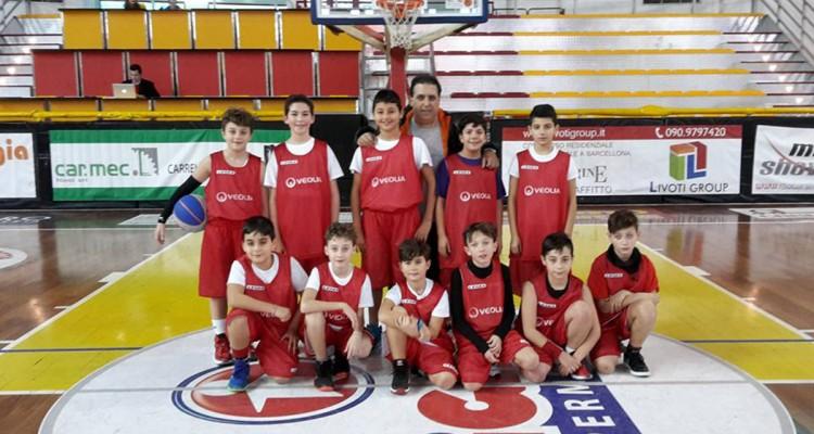 Gli atleti de Il Minibasket Milazzo al Memorial Papini di Rimini
