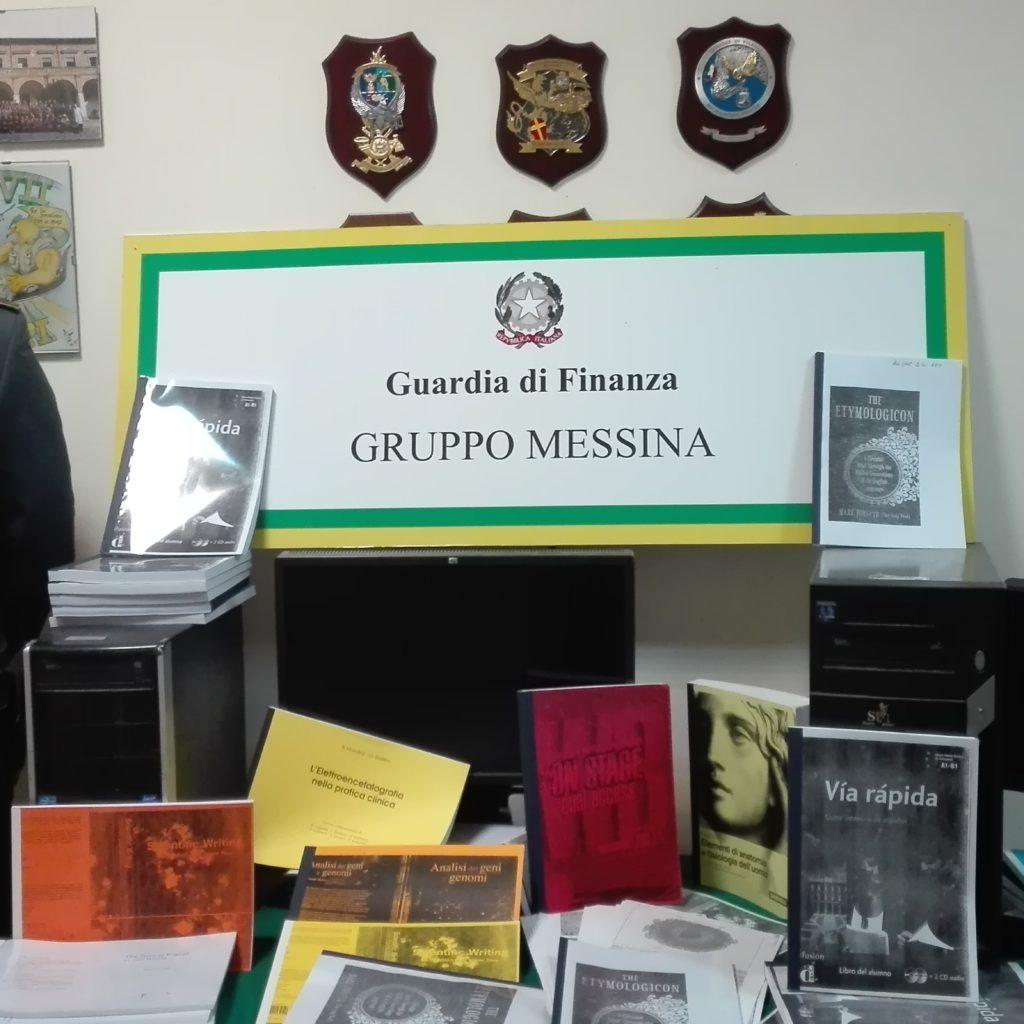 GDF MESSINA: SEQUESTRATI MIGLIAIA DI FILE DI LIBRI UNIVERSITARI ILLECITAMENTE RIPRODOTTI