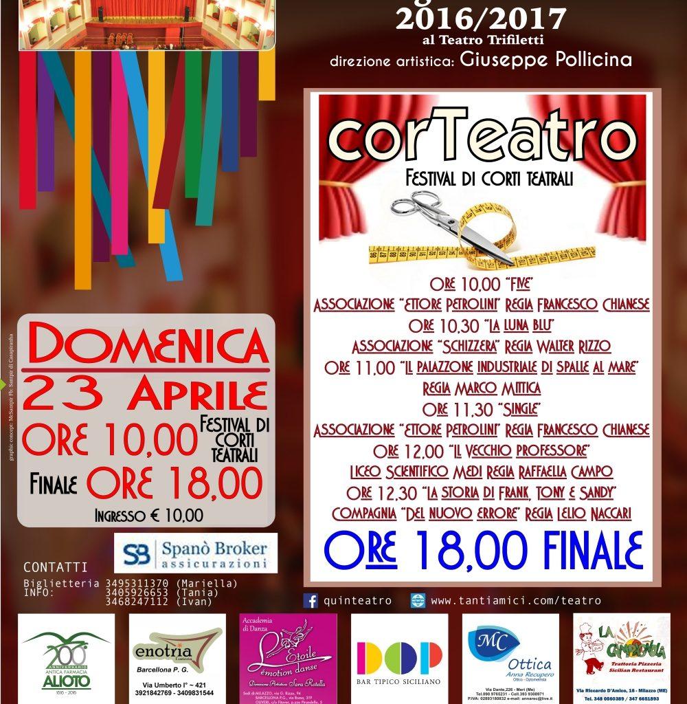 Milazzo / Domenica CorTeatro al Teatro Trifiletti