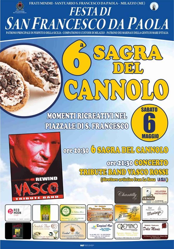 """Milazzo, stasera a """"San Francesco"""" la sagra del cannolo. Domani la processione"""