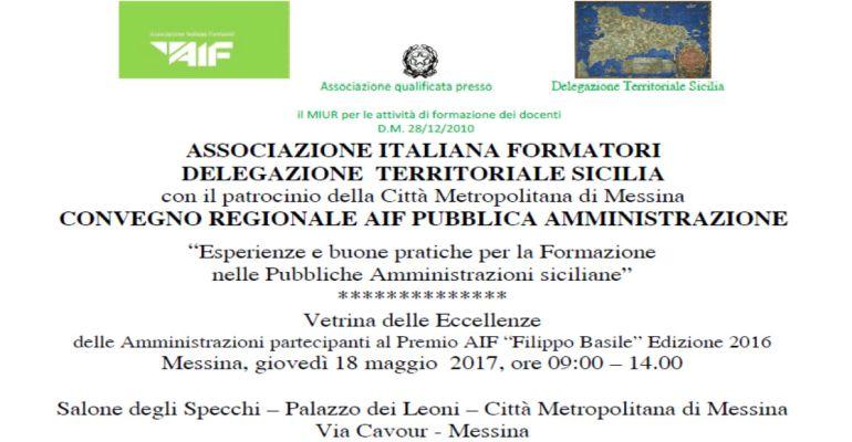 Messina / Le buone pratiche della Formazione della Pubblica Amministrazione ed il Premio Filippo Basile