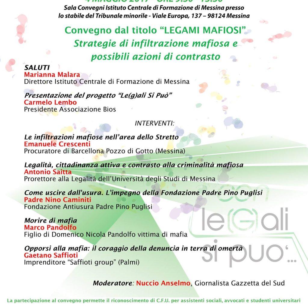 Messina / Leg(a)li si può, promuoviamo la legalità tra i giovani!