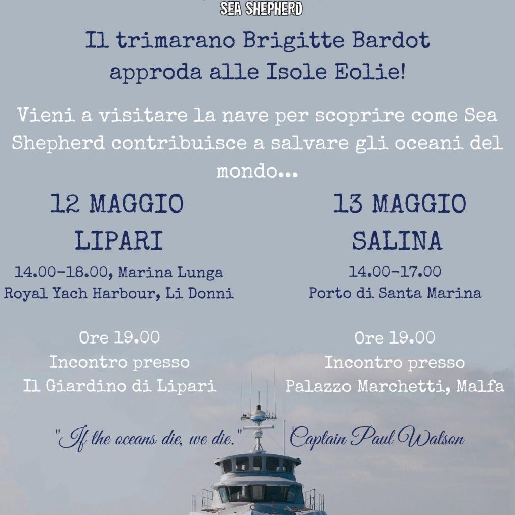 La leggendaria Brigitte Bardot di Sea Shepherd alle Isole Eolie
