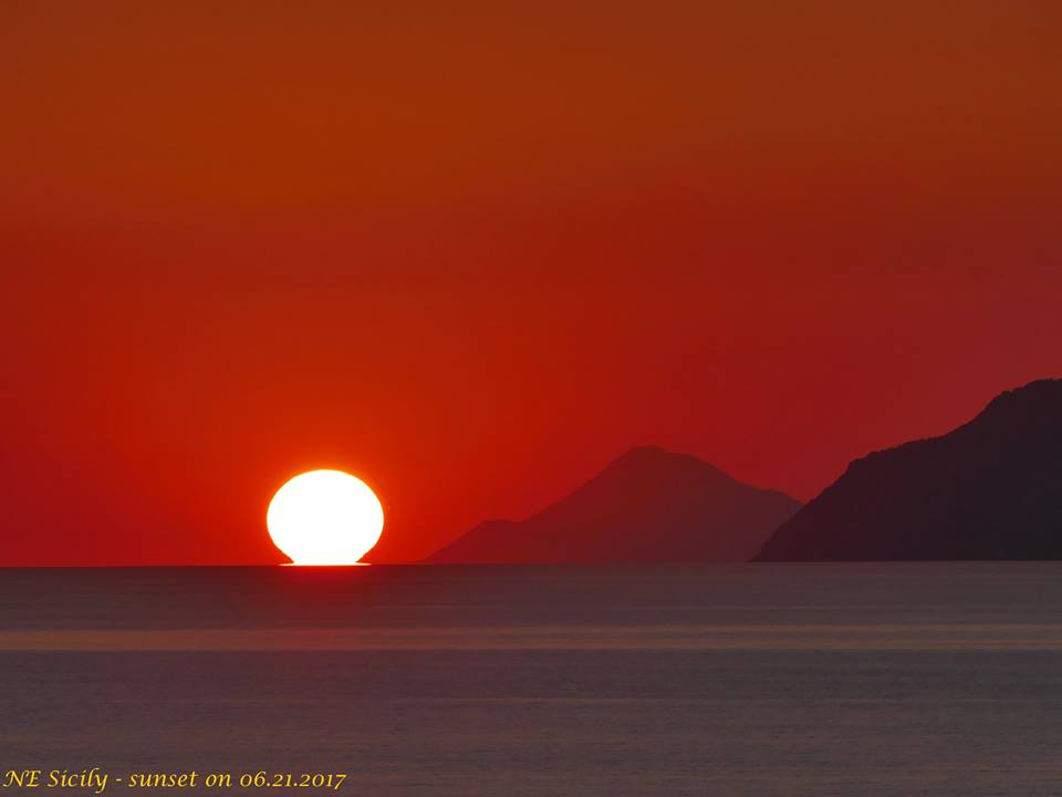 Sicily – sunset on 06.21.2017 di Carmelo Fulco