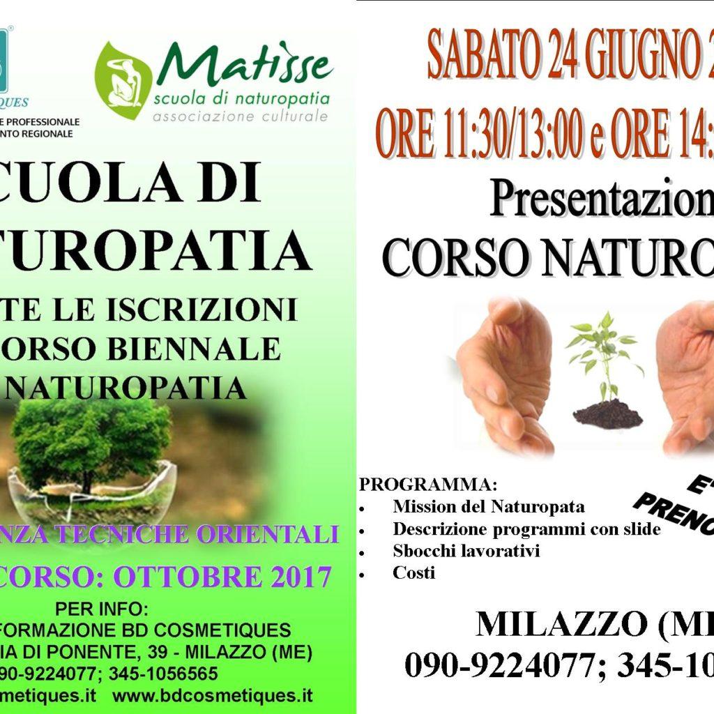 Corso di Naturopatia a Milazzo, presentazione il 24 giugno