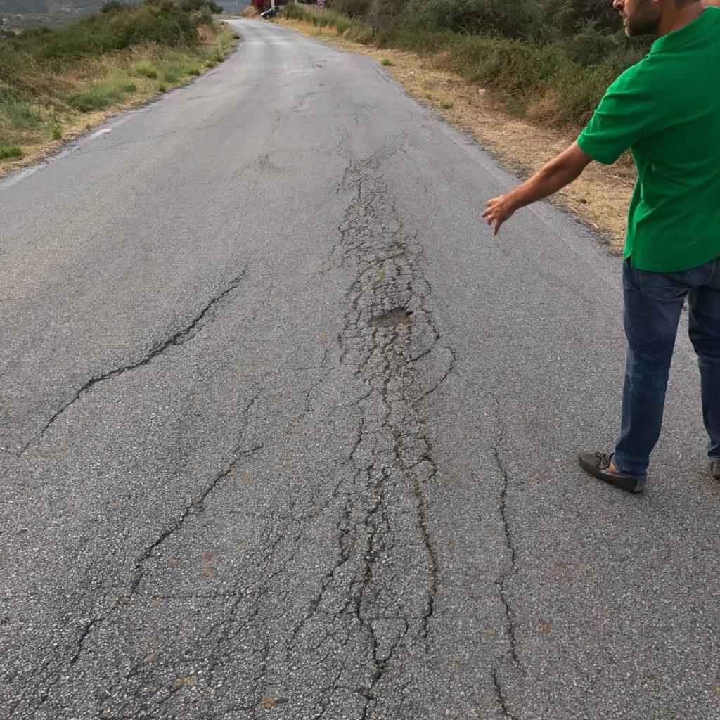 """La denuncia di Prima il Territorio: """"Strade provinciali al collasso, danni alle economie turistiche di Tripi, Basicò e Montalbano"""""""