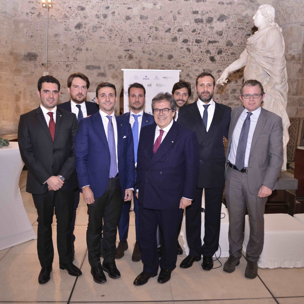 Giovani Imprenditori e Professionisti insieme per gli auguri di Natale: al Castello Ursino di Catania brindisi con il Sindaco Bianco